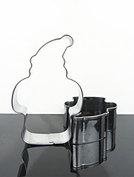 Christmas Father Shape Cookie Cutter, Stainless Steel