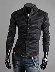 Mænds Stand Collar Spot Mønster langærmet sweater
