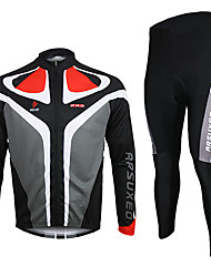 Arsuxeo Cycling Jersey with Tights Men's Long Sleeves Bike Jersey Clothing Suits Thermal / Warm Quick Dry Breathable Spandex Polyester