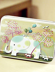 cheap -Rectangle Elephant Pattern Tin Box