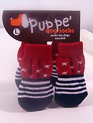 Недорогие -Кошка Собака Ботинки и сапоги Для домашних животных Хлопок Красный / Зима