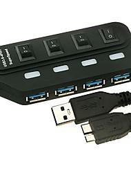 USB3.0 4-Port Hub ad alta velocità
