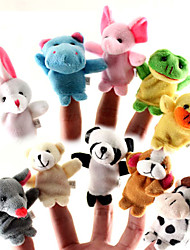 cheap -10 Pieces Animal Finger Puppet Baby Kids Plush Toys Cartoon Child Baby Favor Puppets For Bedtime Stories Kids Girls Toy