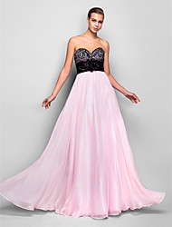 A-Line Sweetheart Floor Length Chiffon Prom Dress with Crystal by TS Couture®