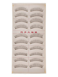 Hand-made Natural False Upper Eyelashes 217