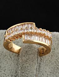 Xinxin Kvinders 18K guld Zircon Ring J0462
