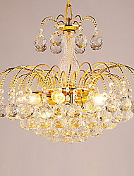 cheap -Chandelier ,  Modern/Contemporary Electroplated Feature for Crystal Metal Living Room Bedroom Dining Room Hallway