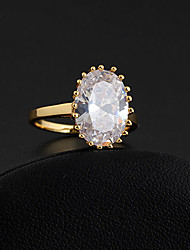 Xinxin Kvinders 18K guld Zircon Ring J28826