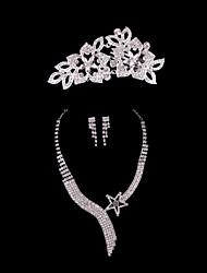 abordables -Mujer Conjunto de joyas Pendientes Collare Tiaras - Regular Otros Para Boda Fiesta Ocasión especial Aniversario Cumpleaños Pedida Regalo