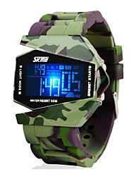 cheap -SKMEI® Men's Watch Camouflage Military Aircraft LED Multi-Function Cool Watch Unique Watch Fashion Watch