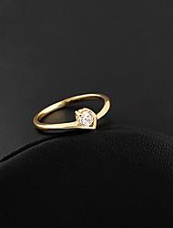 Xinxin Kvinders 18K guld Zircon Ring J0321