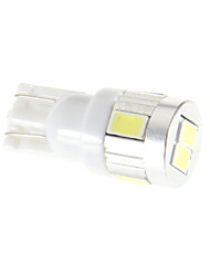 cheap -T10 Car Cold White SMD 5630 6000 Instrument Light License Plate Light Door lamp