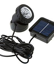 Недорогие -Водонепроницаемый солнечной энергии 6-Светодиодный прожектор Сад Открытый Наводнение лампы (СНГ-57157)