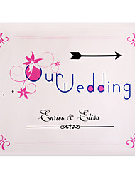 cheap -Personalized Pink Floral Pattern Wedding Indicator