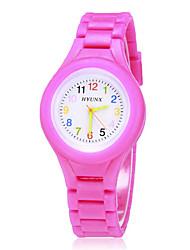 preiswerte -Damen Armbanduhr Silikon Band Süßigkeit / Modisch Schwarz / Weiß / Blau