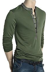 billige -Herre-Ensfarvet Chic & Moderne T-shirt