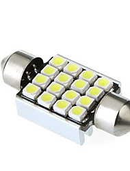 36mm 16 1210 SMD LED Canbus White Car Interior Dome Festoon Light Lamp Bulb