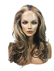 Lace Front Stylish Long Wavy Heat-resistant Synthetic Wigs(Mixed Color)