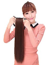 cheap -synthetic horsetail ponytail curly hairpiece 4 colors available