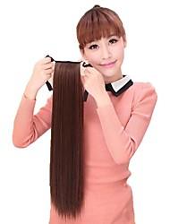 economico -donne sintetico equiseto coda di cavallo parrucchino calore dritto fibra resistente estensione dei capelli a buon mercato partito cosplay