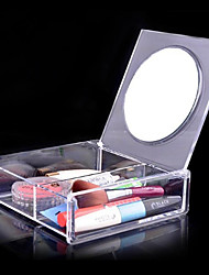 cheap -Cosmetic Box Makeup Storage Solid Quadrate Acrylic
