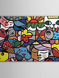Недорогие -растянутый холсте поп искусства мультфильм Britto сад готовы повесить