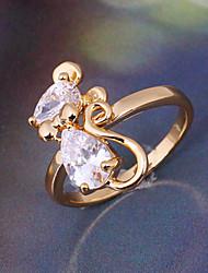 Minmin Kvinders 18K guld Zircon Ring J0388