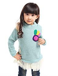 Girl Okrugli ovratnik džemper Tees