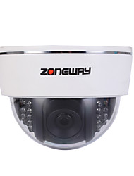 cheap -ZONEWAY® 2.0 MP Dome Indoor with Day Night IR-cut Day Night Motion Detection Dual Stream IR-cut Plug and play)