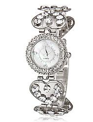 cheap -Women's Bracelet Watch Casual Watch Japanese Quartz Imitation Diamond Alloy Band Heart shape Silver