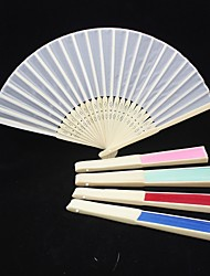 Solid Color Raw Silk Hand Fan (More Colors)