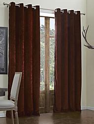 baratos -modernos dois painéis de vida sólida cortinas da janela cortinas sala
