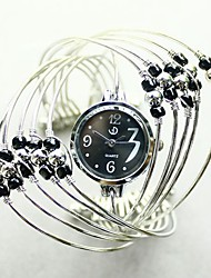 cheap -HEBE Women's Fashion Multilayer Bead Halved Belt Watch