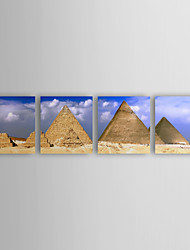 cheap -Stretched Canvas Art Landscape The Giza Pyramids in Egypt Set of 4