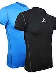 Arsuxeo Homens Camiseta de Corrida Manga Curta Secagem Rápida Design Anatômico Respirável Compressão camadas de base Roupas de Compressão