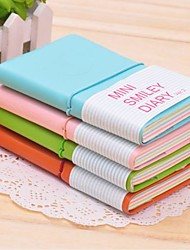 cheap -Mini Smile Face Pattern PU Leather Notabook(Large)