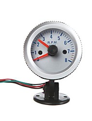 "Omdrejningstæller Tach Gauge med Holder Cup for auto bil 2 ""52mm 0 ~ 8000RPM Orange Lys"