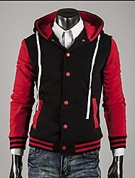 Fashion Contrast da uomo Zhelin cappotto con cappuccio di colore Fibbia Colore casuale