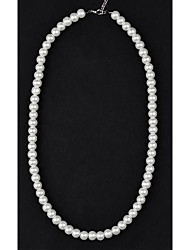 cheap -Women's Strands Necklaces Pearl Necklace Pearl Imitation Pearl Strands Necklaces Pearl Necklace , Wedding Party Daily Casual