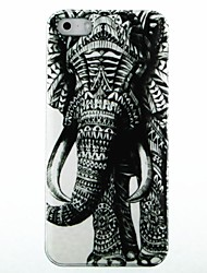 Copertura dura di caso Destra Elephant Pattern for iPhone 5/5S