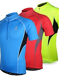 cheap -Arsuxeo Men's Short Sleeve Cycling Jersey - Red / Blue / Light Green Bike Jersey, Quick Dry, Anatomic Design, Breathable Polyester
