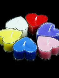 Velas votivas em forma de coração de fragrância - conjunto de favores de casamento de 6 peças