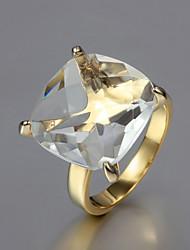 presente para namorada de moda claras anéis declaração cúbicos de zircônia (ouro) (1 pc)