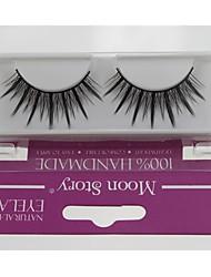 Недорогие -1 пара Pro Высокое качество, ручная синтетического волокна волос Тонкий Длинные Стиль Накладные ресницы
