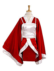 Inspired by LOL Akari Video Game Cosplay Costumes Cosplay Suits / Kimono Patchwork Red Long Sleeve Kimono Coat / Vest