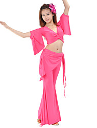 Belly Dance Outfits Women's Training Rayon Nylon Long Sleeve Natural