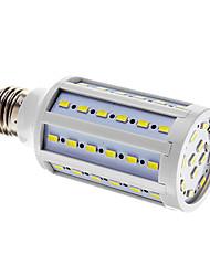 E26/E27 LED-kolbepærer T 60 leds SMD 5730 Kold hvid 1000lm 6000-7000K Vekselstrøm 220-240V