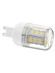 G9 LED-kolbepærer T 24 leds SMD 5730 Varm hvid 12OOlm 3000-3500K Vekselstrøm 220-240V
