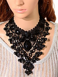 cheap -Women's Crystal Choker Necklace / Pendant Necklace / Chain Necklace  -  Tower Black Necklace For Party