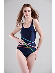 baratos -Mulheres roupa de banho Resistente ao cloro Poliéster / Elastano Roupa de Banho Roupa de Praia Body Riscas